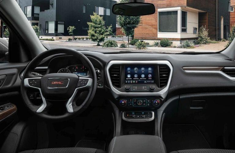 2021 GMC Acadia dashboard and steering wheel