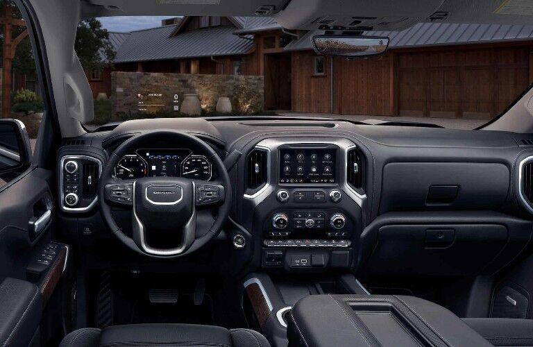 2021 GMC Sierra 1500 dashboard and steering wheel