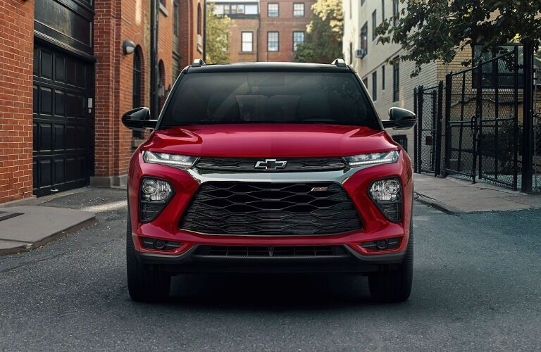 2021 Chevy Trailblazer red front view