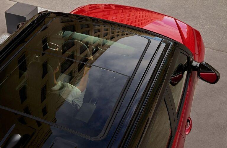 2021 Chevy Trailblazer red top view