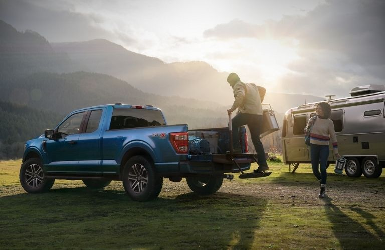 2021 Ford F-150 parked outside in a field