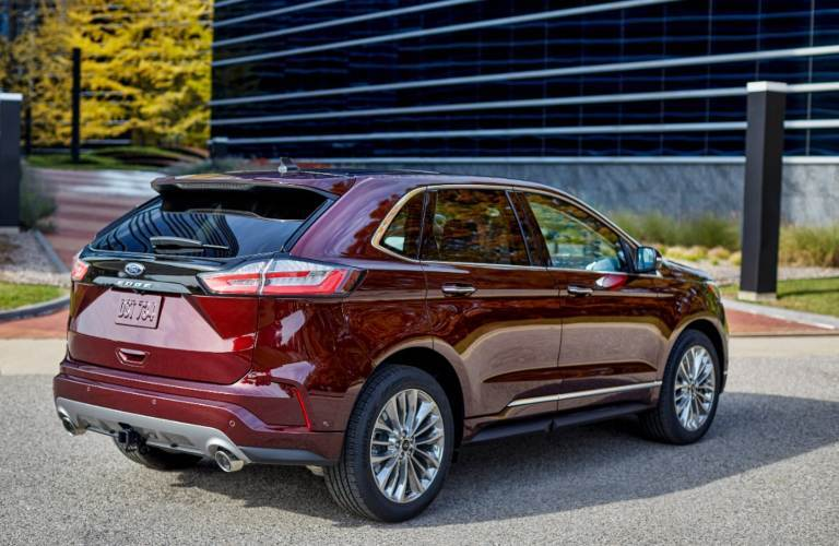 2021 Ford Edge from behind