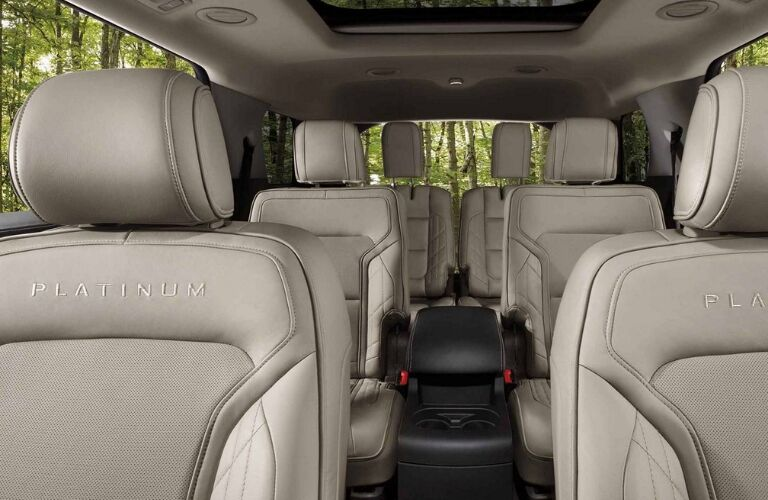 Seating in 2019 Ford Explorer Platinum