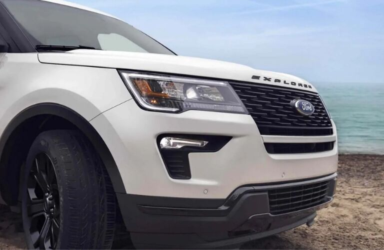 White 2019 Ford Explorer Sport exterior
