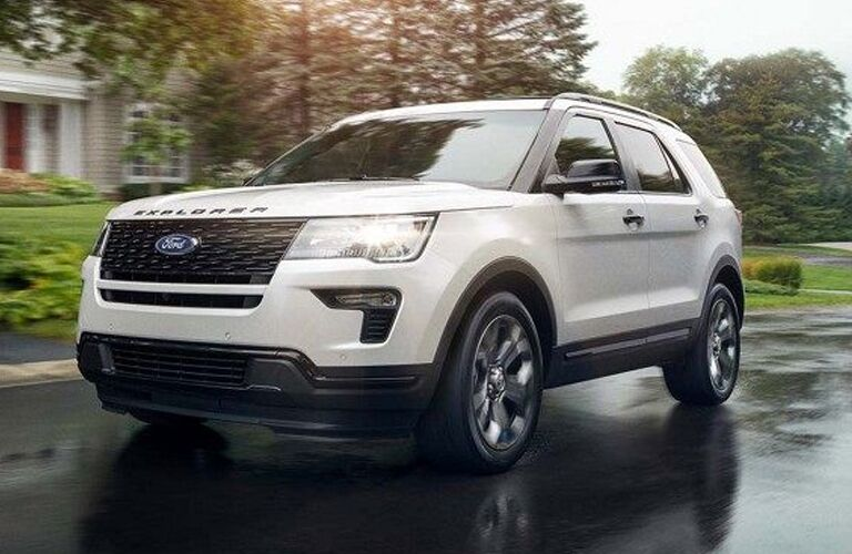 2019 Ford Explorer on town street