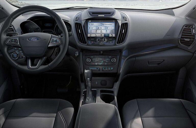 dashboard of 2018 ford escape