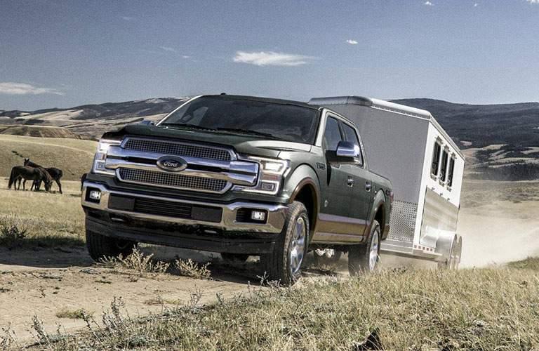 2018 ford f-150 hauling a trailer