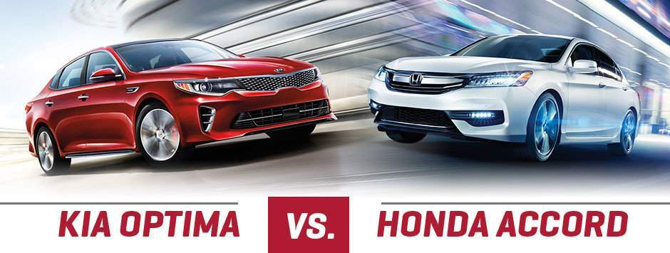 Kia Optima versus Honda Accord Evansville IN