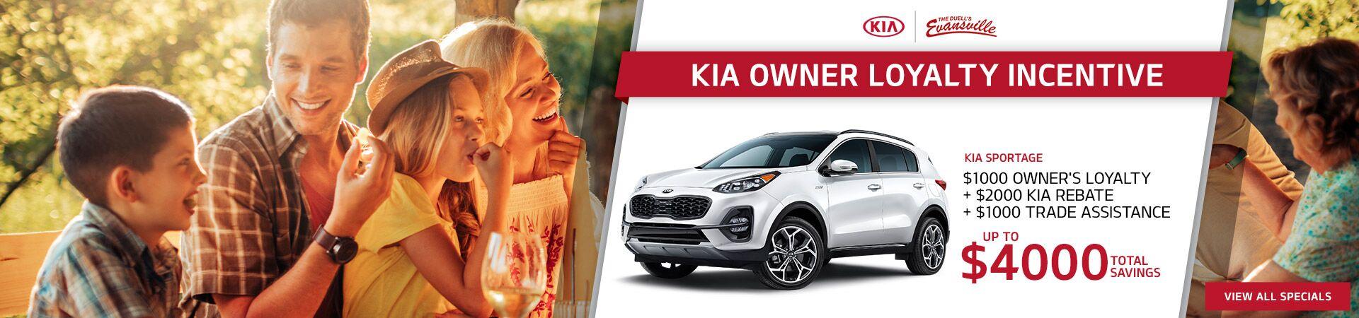 Kia Sportage Owner Loyalty Offer
