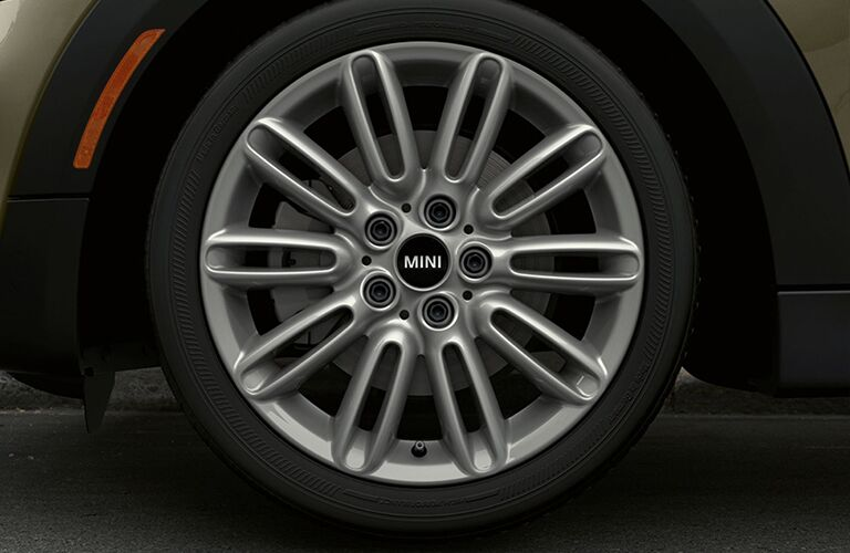 2017 MINI Cooper wheel close up