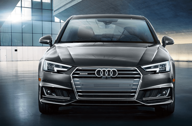 2018 Audi A4 front grille and headlights