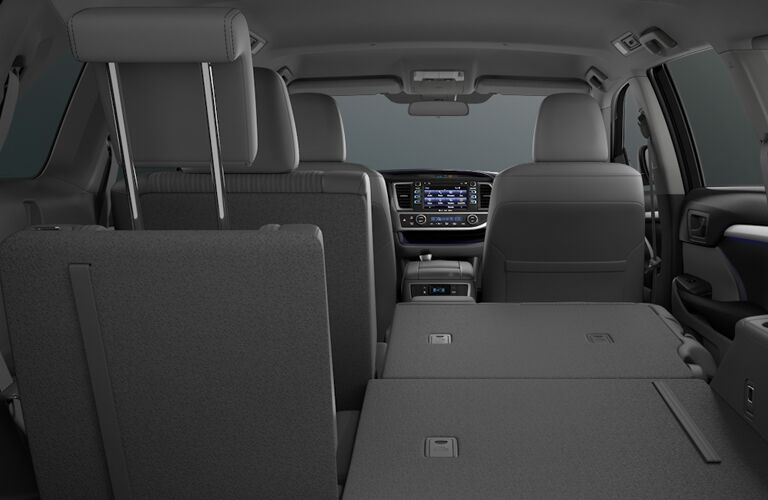 A folded seat in the 2018 Toyota Highlander