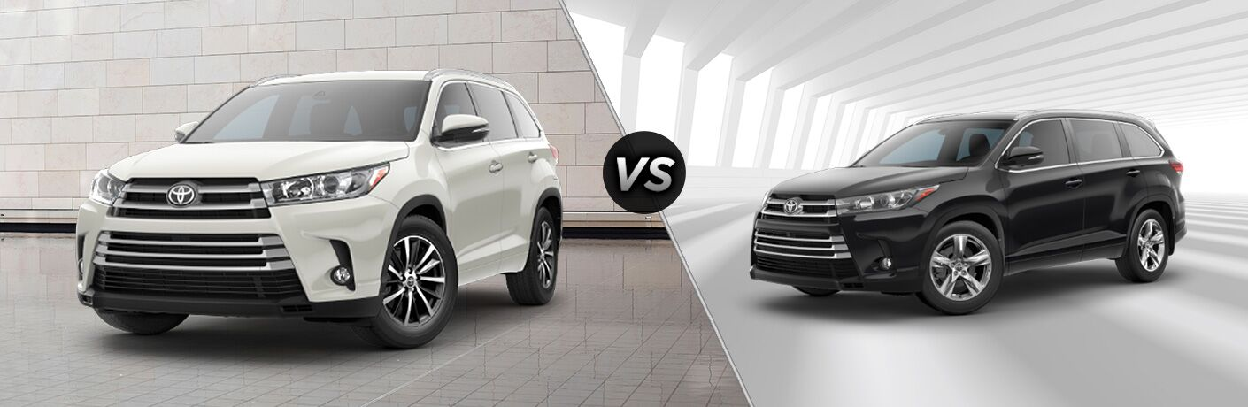 2018 Toyota Highlander XLE vs. Limited