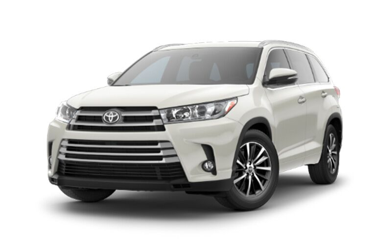 2018 Toyota Highlander XLE from the front