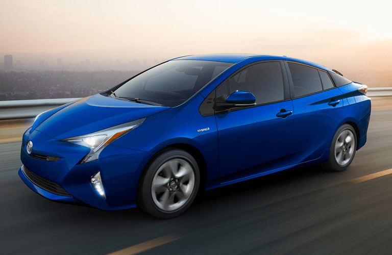 2019 Toyota Prius driving on the highway
