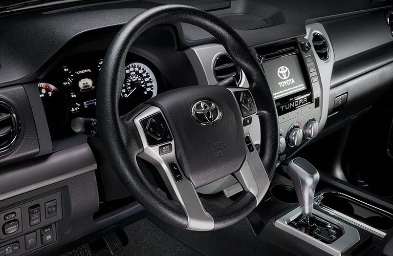 Steering wheel in the 2018 Toyota Tundra
