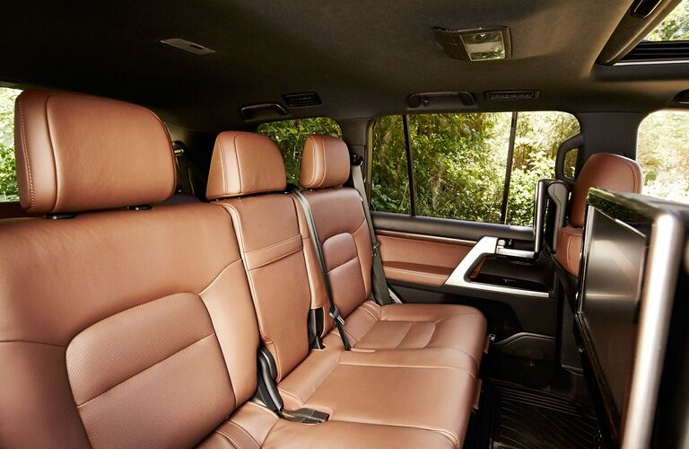 Rear seats in the 2019 Toyota Land Cruiser