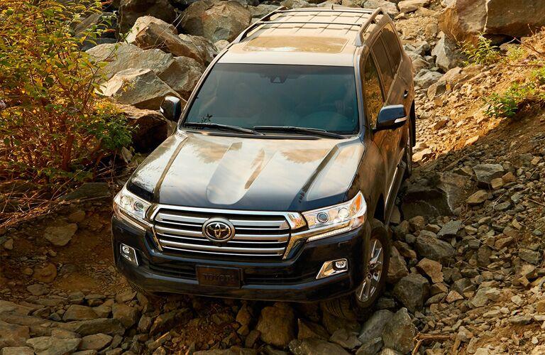 2019 Toyota Sequoia on rocks