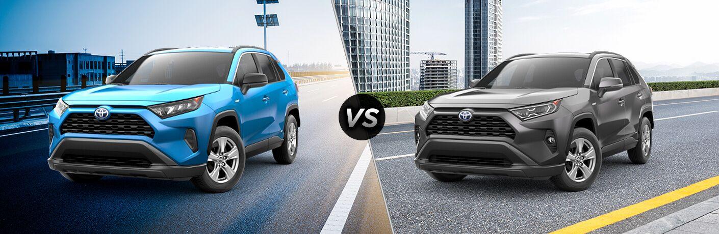 2019 Toyota RAV4 Hybrid LE vs XLE
