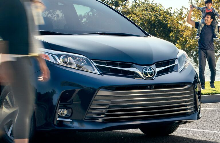 Grille of the 2019 Toyota Sienna