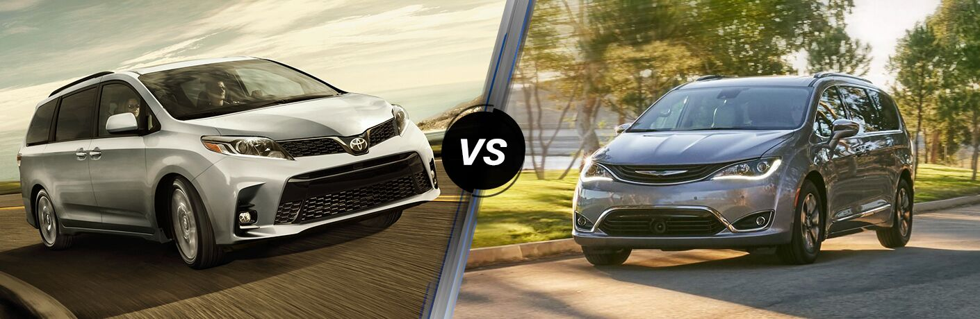 2019 Toyota Sienna and Chrysler Pacifica models in comparison photo