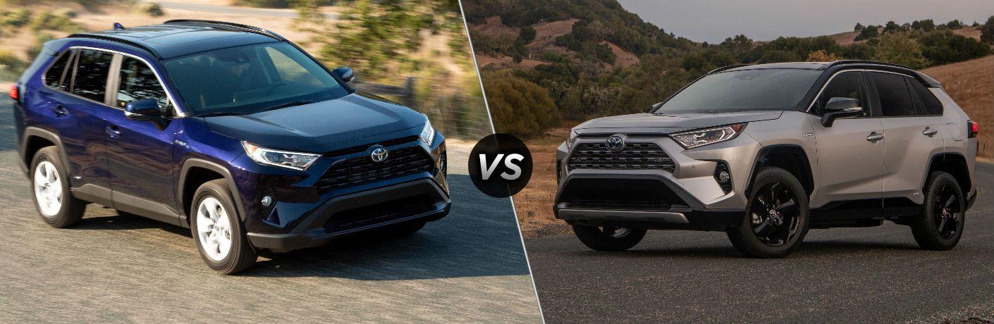 2019 Toyota RAV4 Hybrid XLE vs XSE