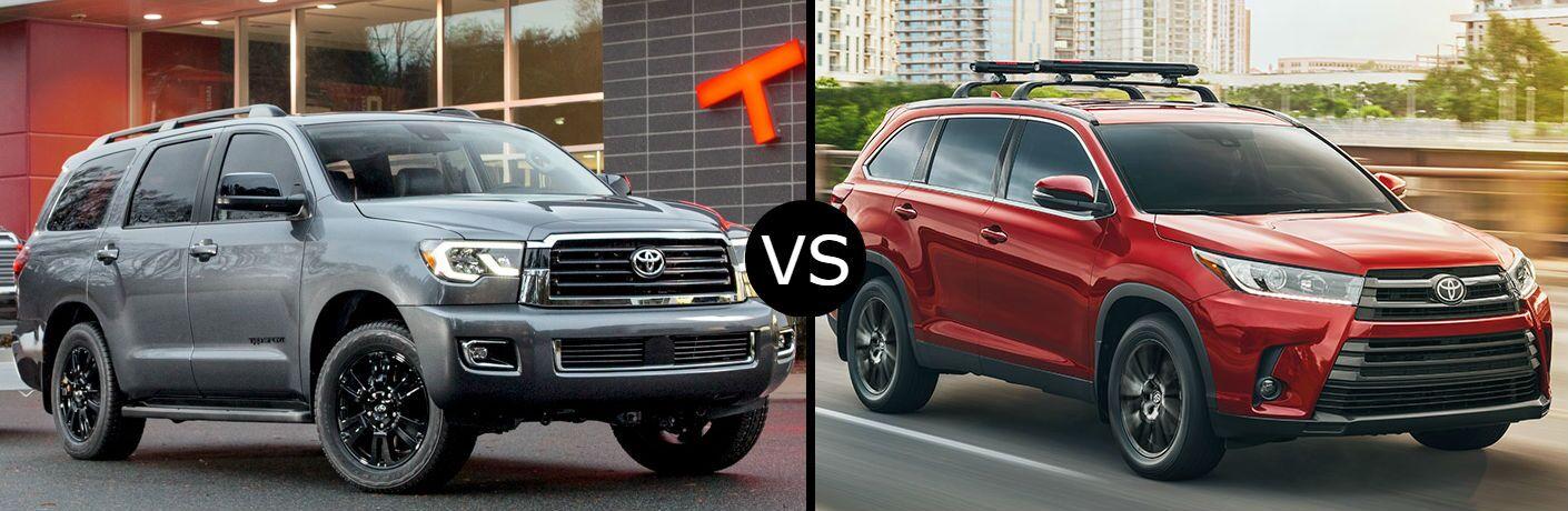 2019 Toyota Sequoia vs. 2019 Toyota Highlander
