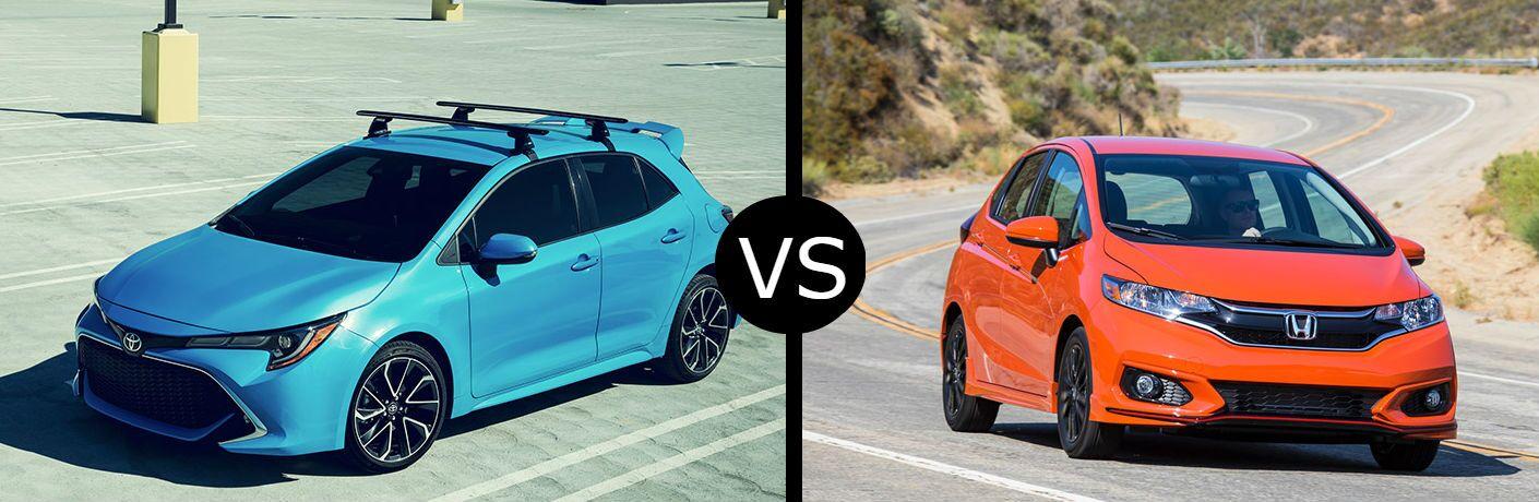 2019 Toyota Corolla hatchback vs  2019 Honda Fit