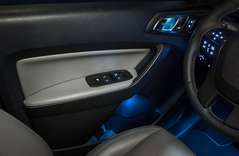 Interior door of the 2020 Ford Ranger