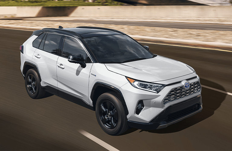 2020 Toyota RAV4 Hybrid driving on the highway