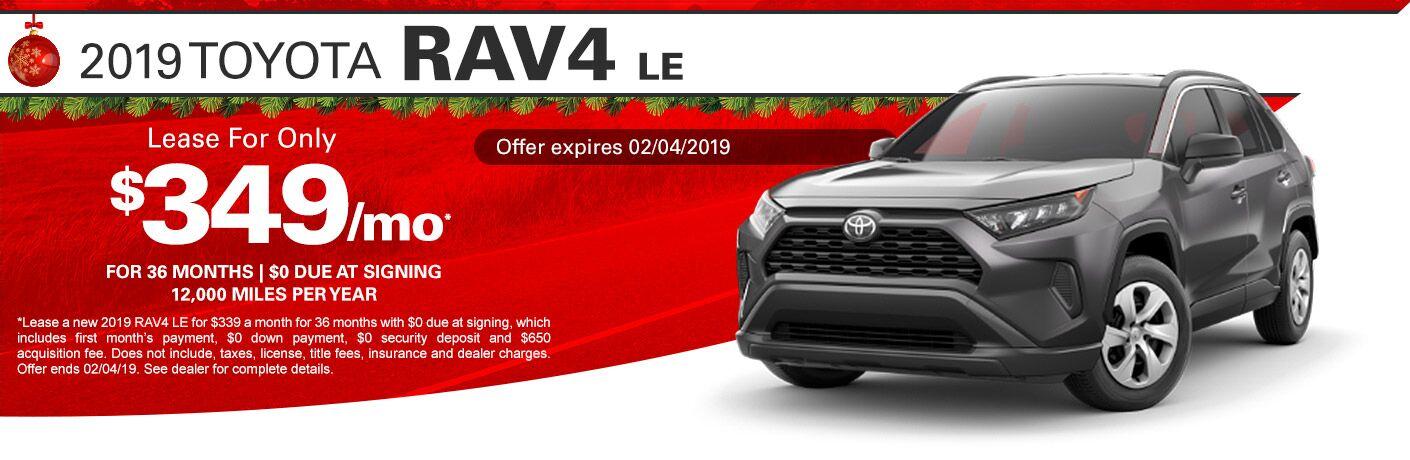 2019 Toyota RAV4 LE lease