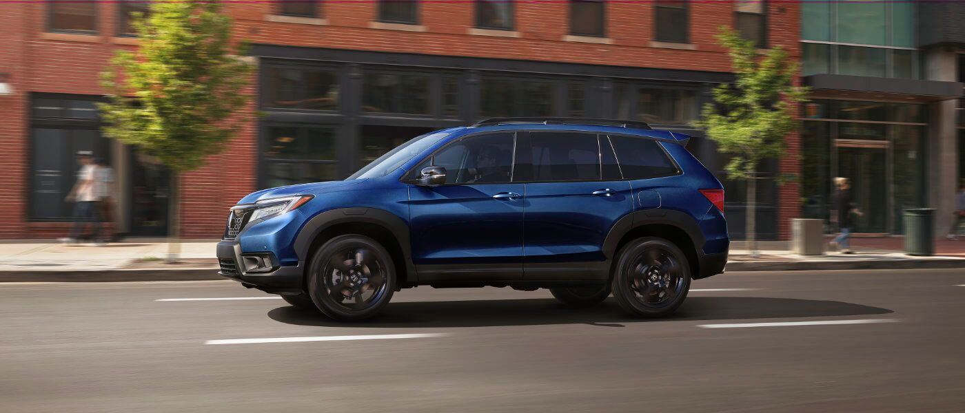 2020 Honda Passport Side Exterior View Driving