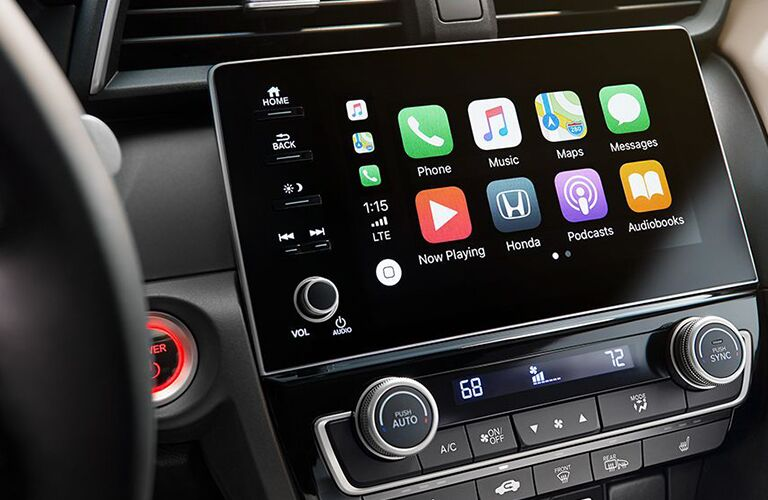 Touchscreen display of the 2019 Honda Insight