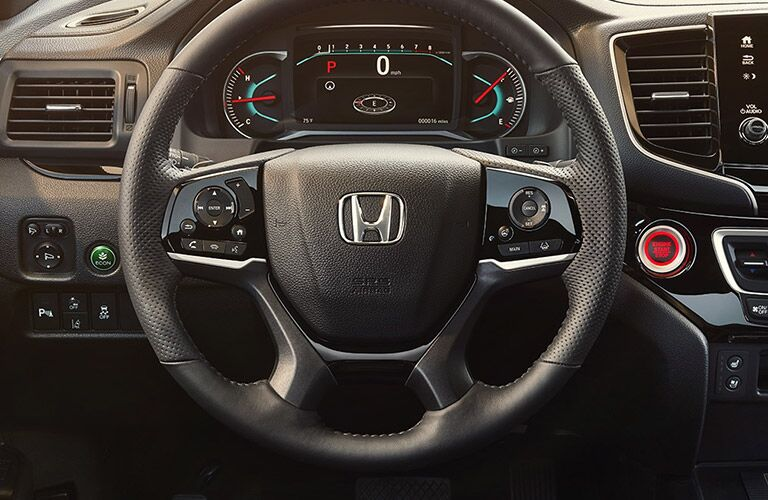 Steering wheel mounted controls of the 2019 Honda Passport