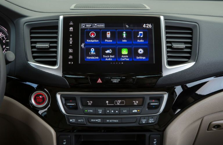 Touchscreen Display of the 2019 Honda Ridgeline
