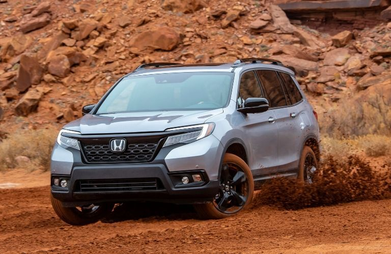 2020 Honda Passport driving through dirt