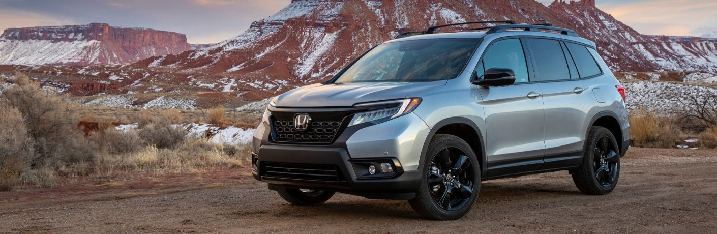 2020 Honda Passport in front of mountain