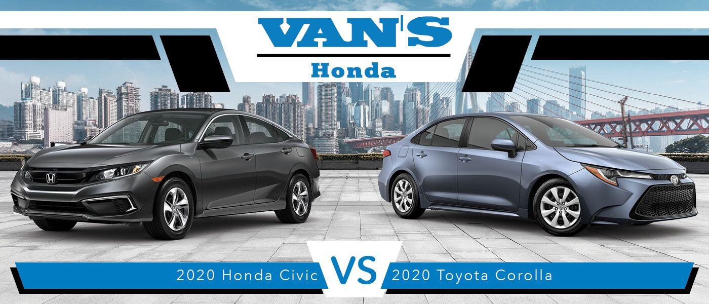 2020 Honda Civic vs Toyota Corolla