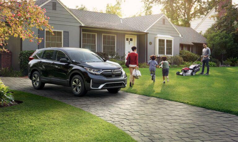 2020 Honda CR-V parked outside a house