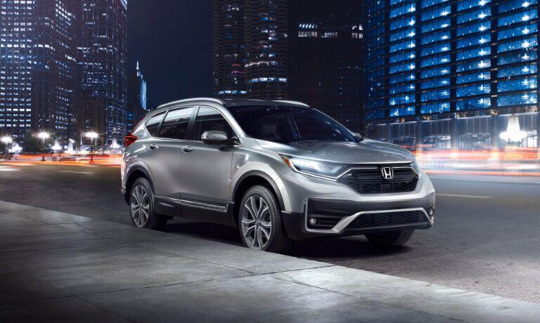 2020 Honda CR-V parked outside at night