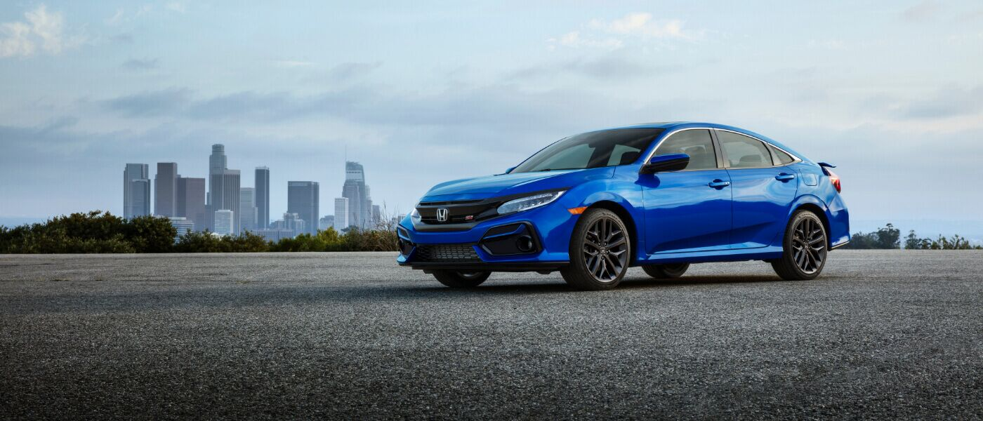 2020 Honda Civic parked outside buy a city
