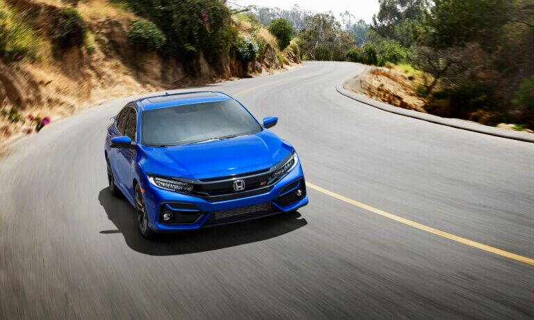 2020 Honda Civic driving on the street