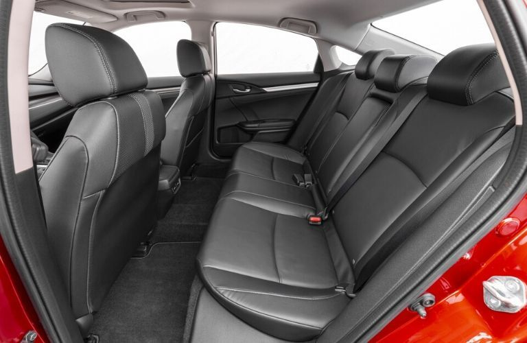 Interior back seat of 2020 Honda Civic Touring