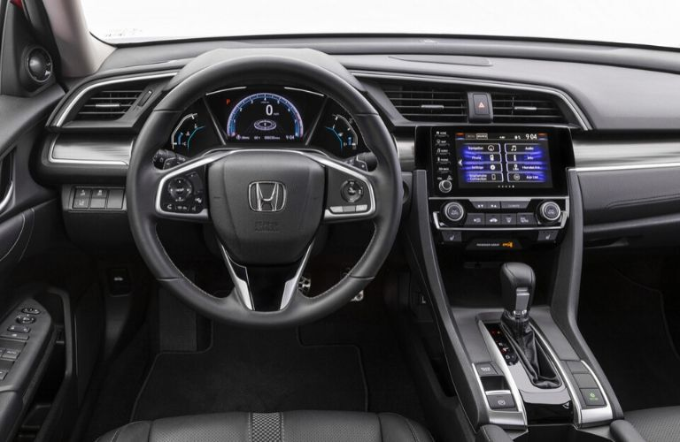 Interior front seat of 2020 Honda Civic Touring