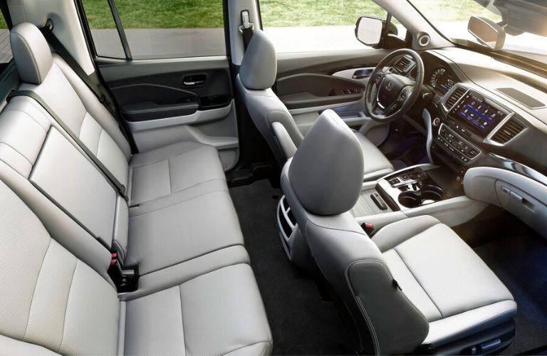 Interior seats from above in 2020 Honda Ridgeline