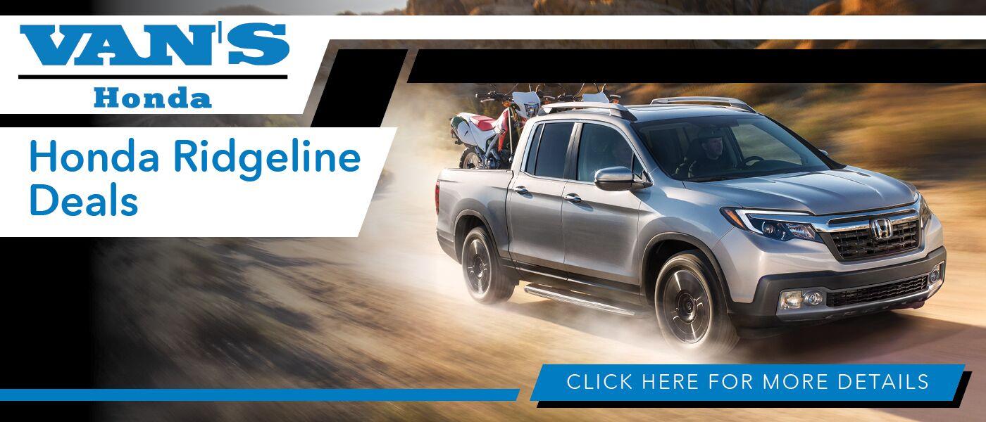 2020 Honda Ridgeline Deals banner