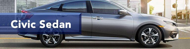grey 2019 Honda Civic sedan with banner