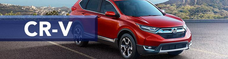 red 2019 Honda CR-V with banner