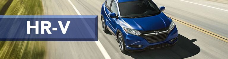 blue 2019 Honda HR-V with banner