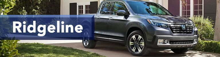 grey 2019 Honda Ridgeline with banner